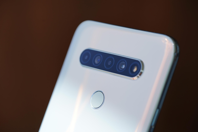 obiektywy i czytnik linii papilarnych w LG K61