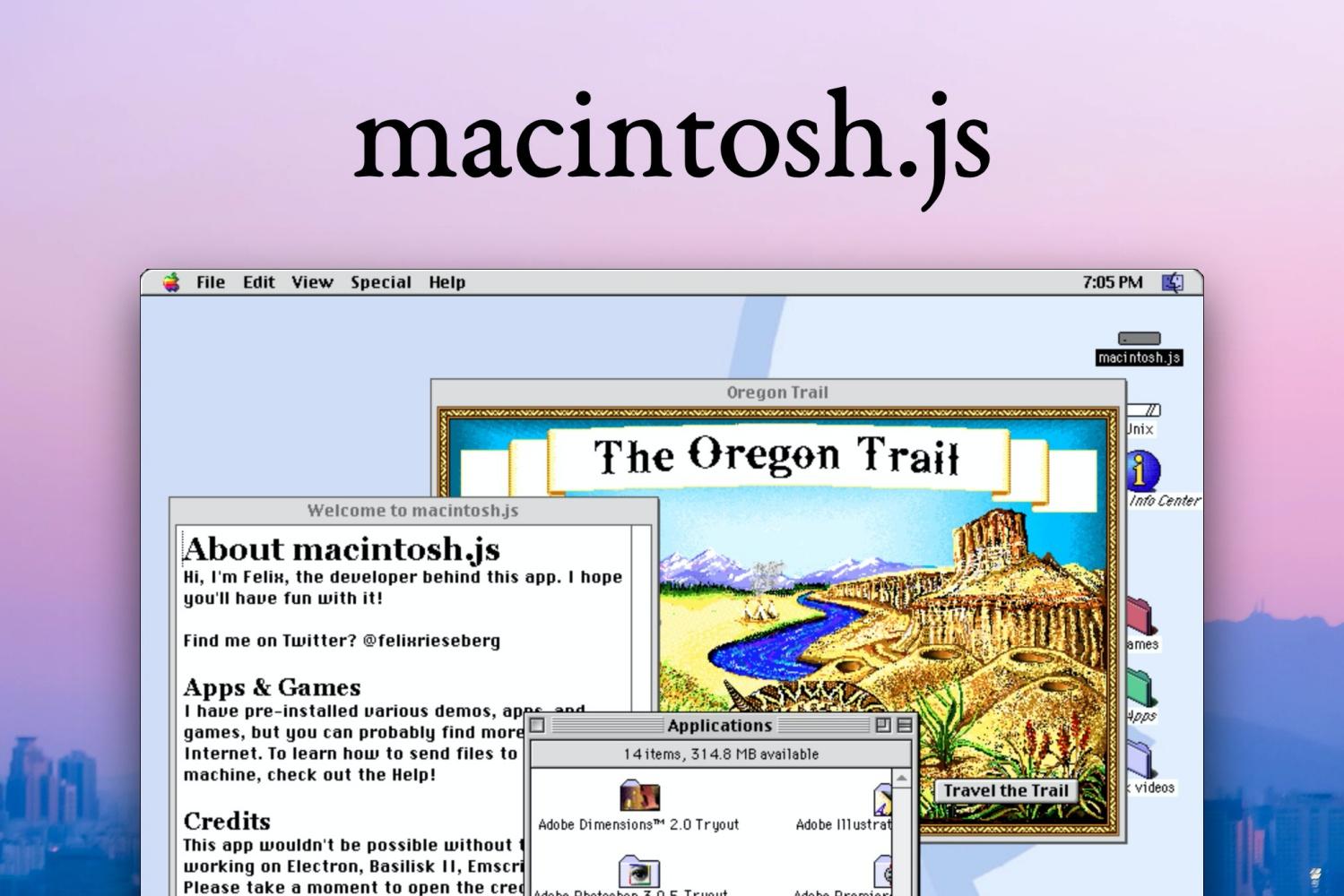 Mac OS 8 w formie aplikacji. Zobacz, jak wyglądał system Apple w 1997 roku