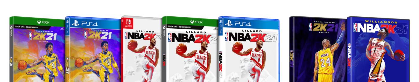 Okładki wszystkich wersji NBA 2K21