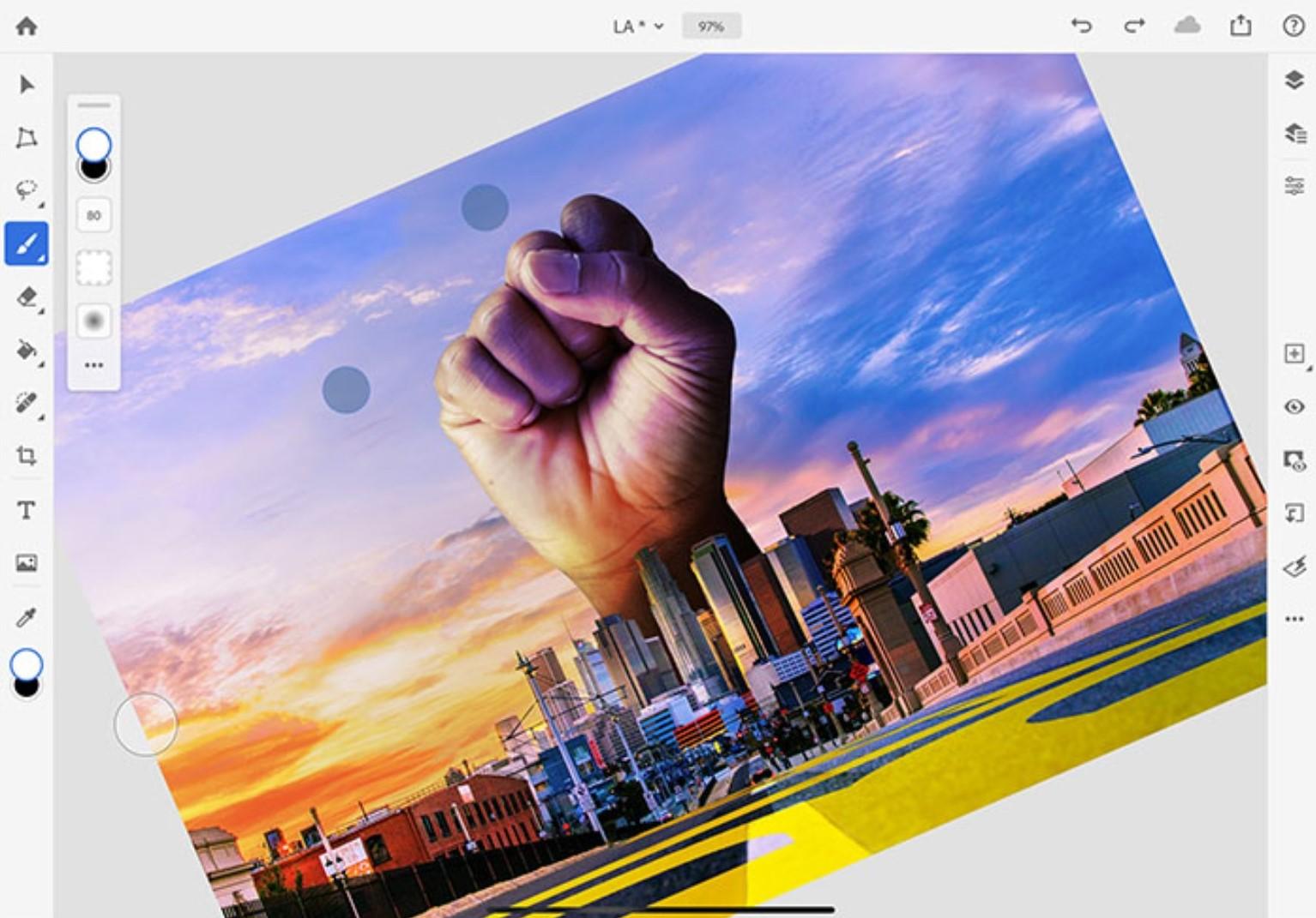 Photoshop na iPady zyskuje parę nowych opcji. Dosłownie, dwie 18