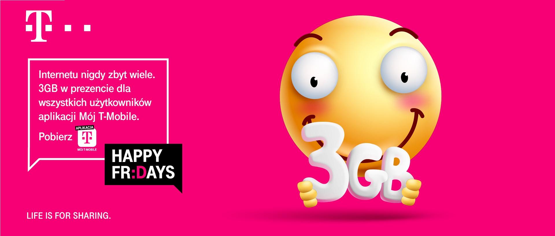 T-Mobile pakiet 3 GB internetu za darmo Happy Fridays