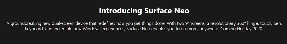 Koniec złudzeń. Microsoft usuwa ze swojej strony informację o premierze Surface Neo w 2020 roku 18 Surface Neo