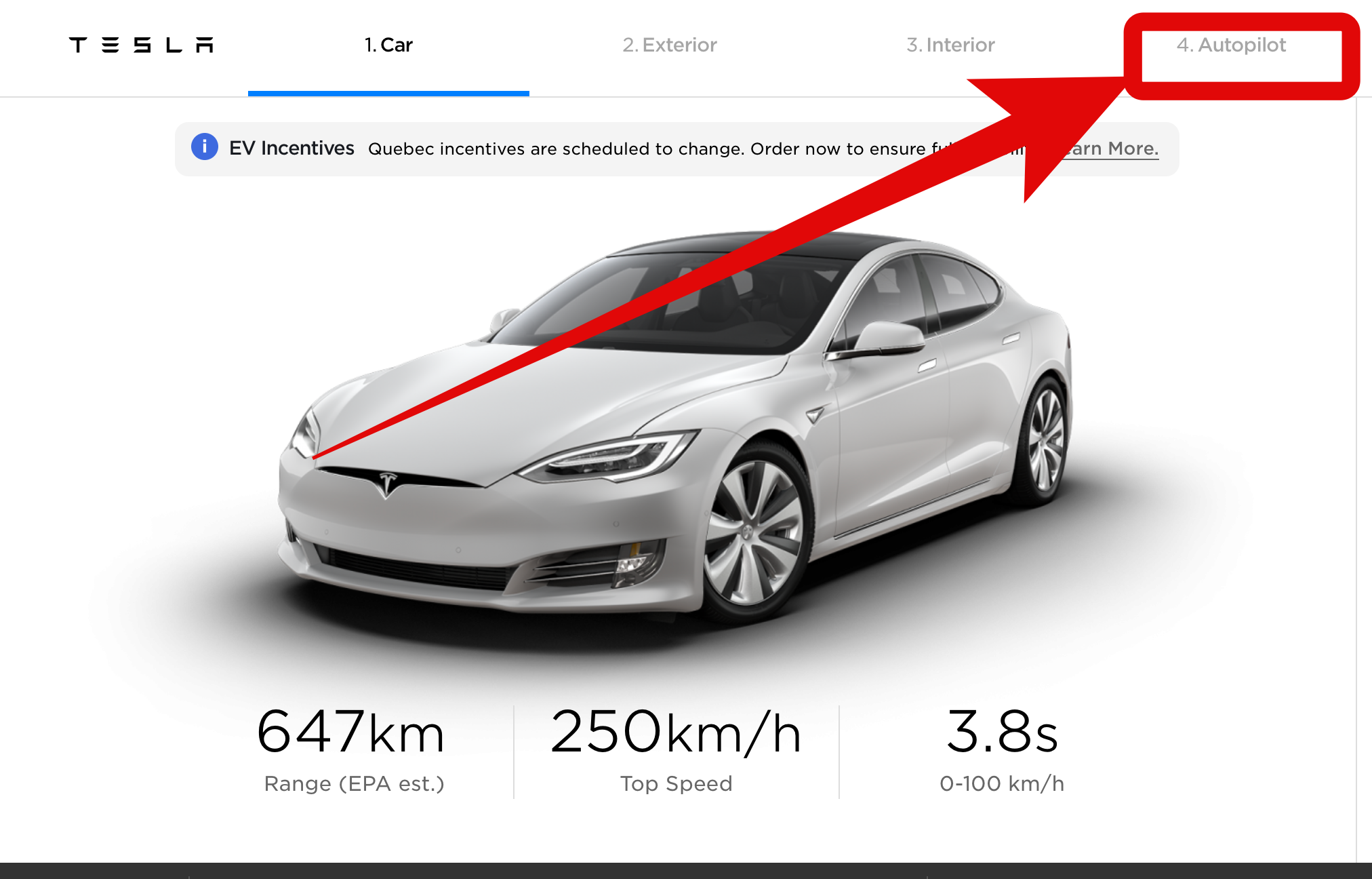 Tesla – konfigurator Modelu S.