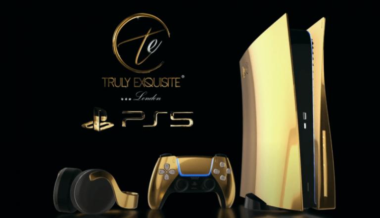 PlayStation 5 ze złota