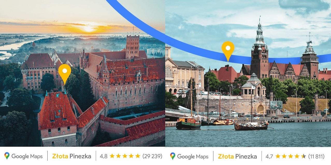 Google przyznaje Złote Pinezki w Polsce. Dla każdego województwa po jednej 17 Google
