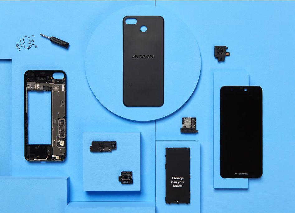 modułowy smartfon Fairphone 3+ modular smartphone