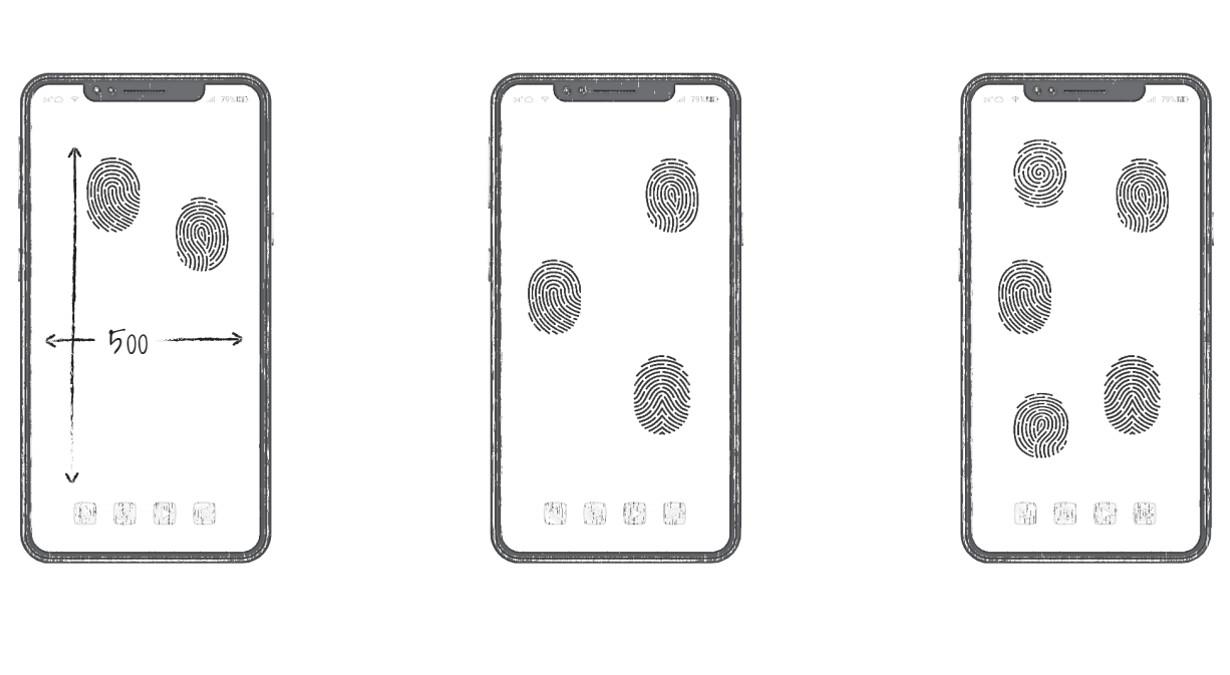Huawei ekran jako czytnik linii papilarnych