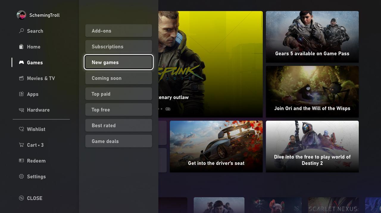 Microsoft Store nareszcie doczekał się odświeżenia na konsoli Xbox