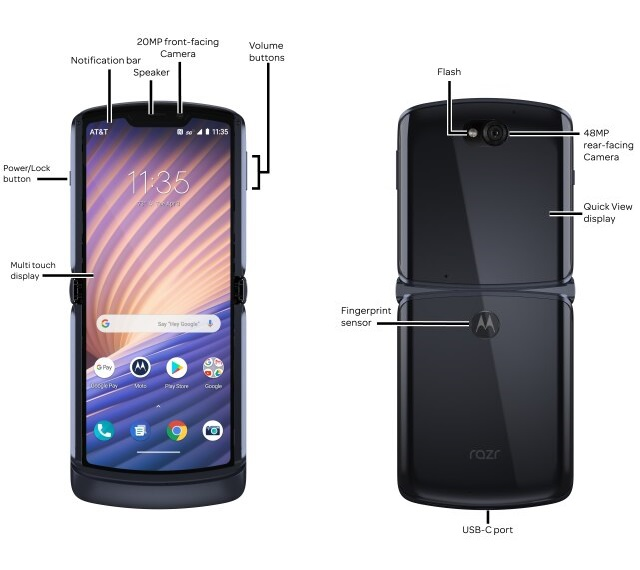 smartfon Motorola RAZR 5G AT&T smartphone