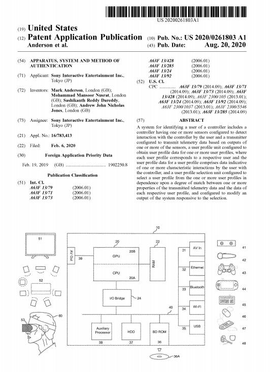 Patent DualSense Tabletowo