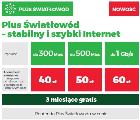Plus internet stacjonarny nowy cennik
