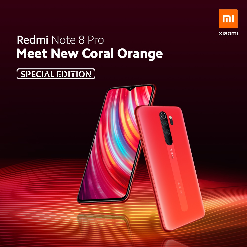 Redmi Note 8 Pro Special Edition Coral Orange