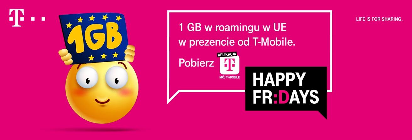 T-Mobile 1 GB internetu w roamingu w Unii Europejskiej w ramach akcji Happy Fridays