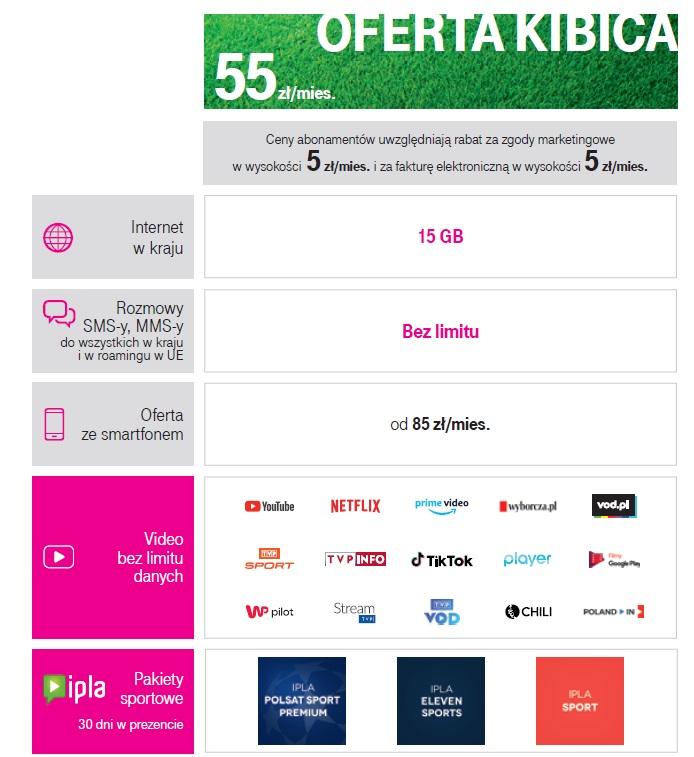 T-Mobile oferta kibica piłkarska