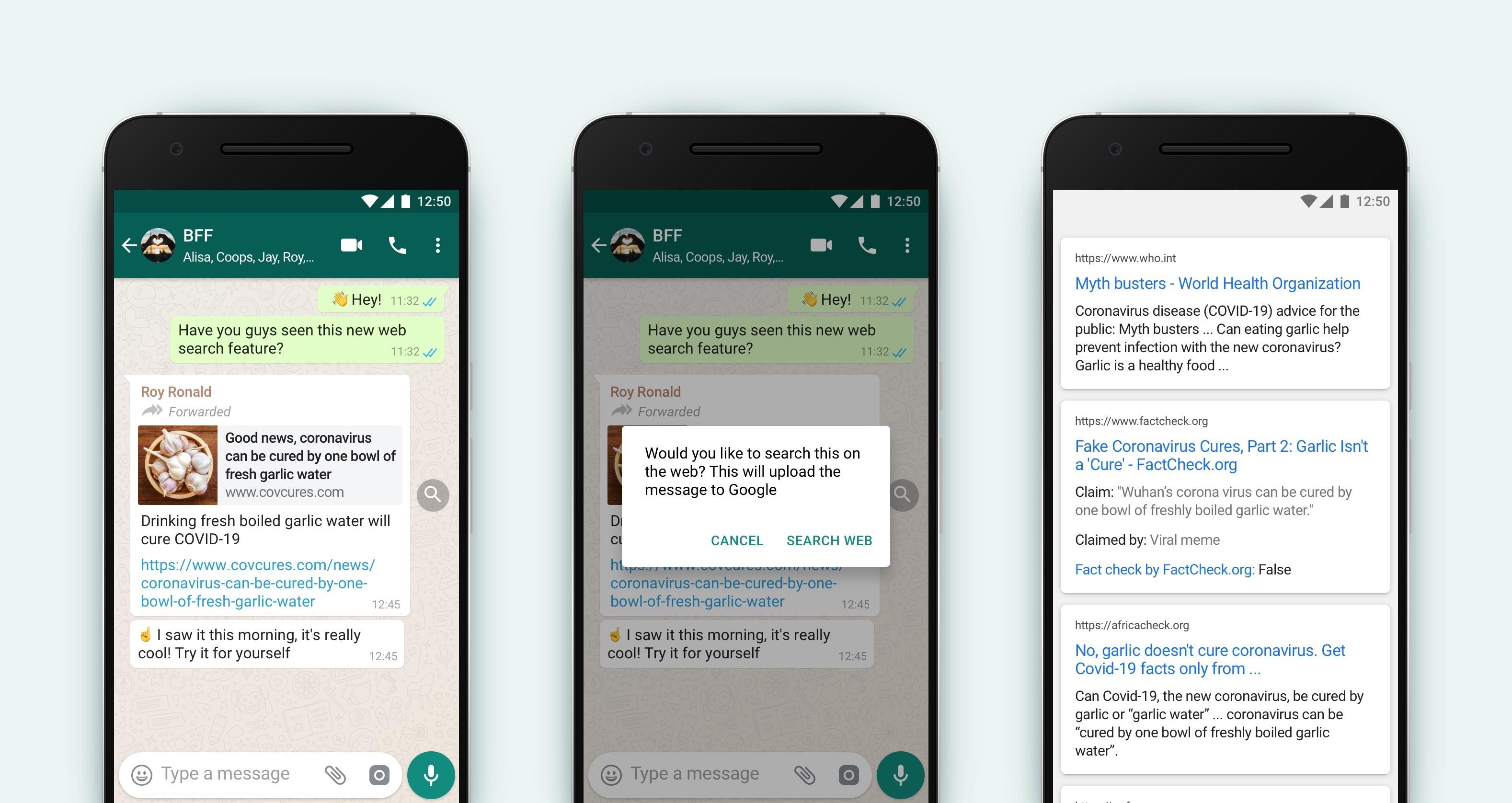 WhatsApp nowa funkcja lupa weryfikacja informacji wiadomości