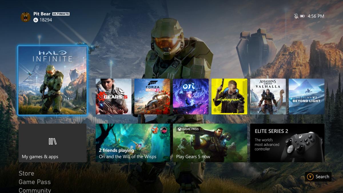 Xbox One new UI