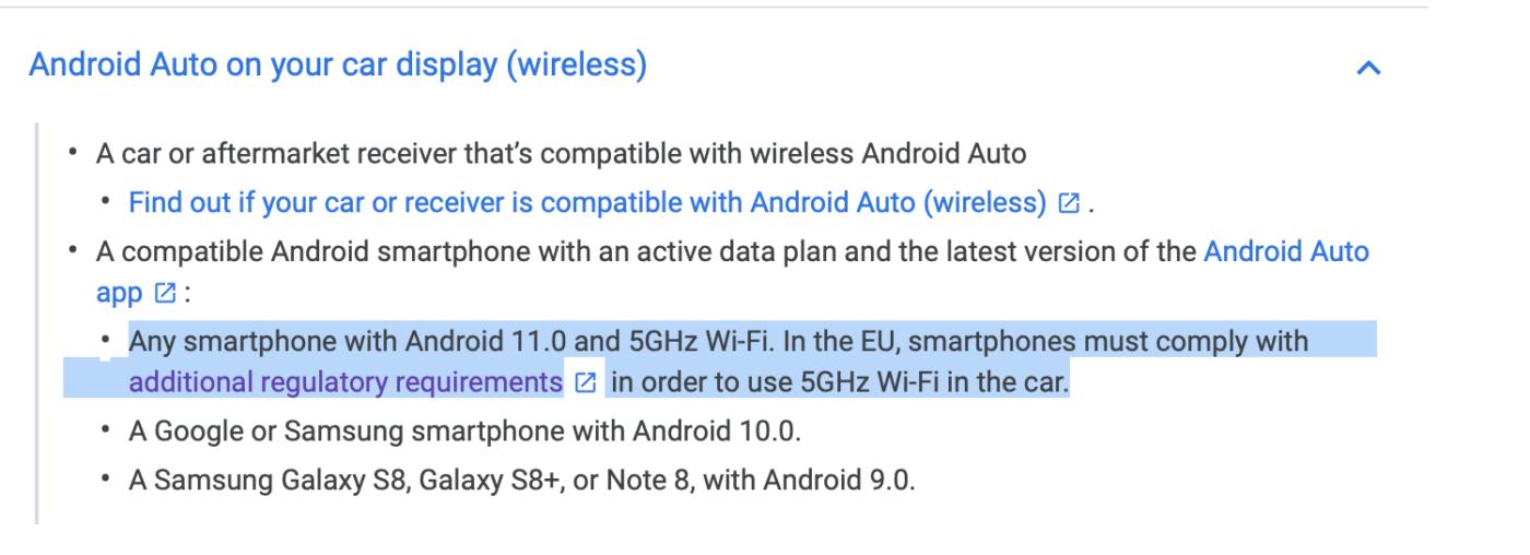Bezprzewodowy Android Auto.