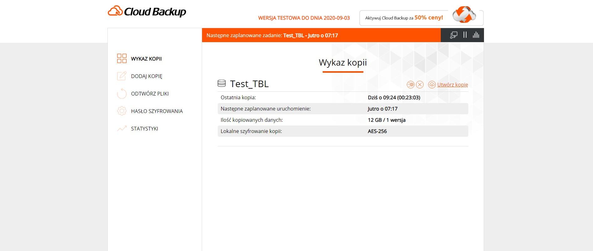 Cloud Backup w Nazwa.pl