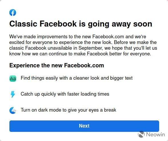 Przyzwyczajajcie się do nowego wyglądu Facebooka. Stary przestanie być dostępny już niebawem
