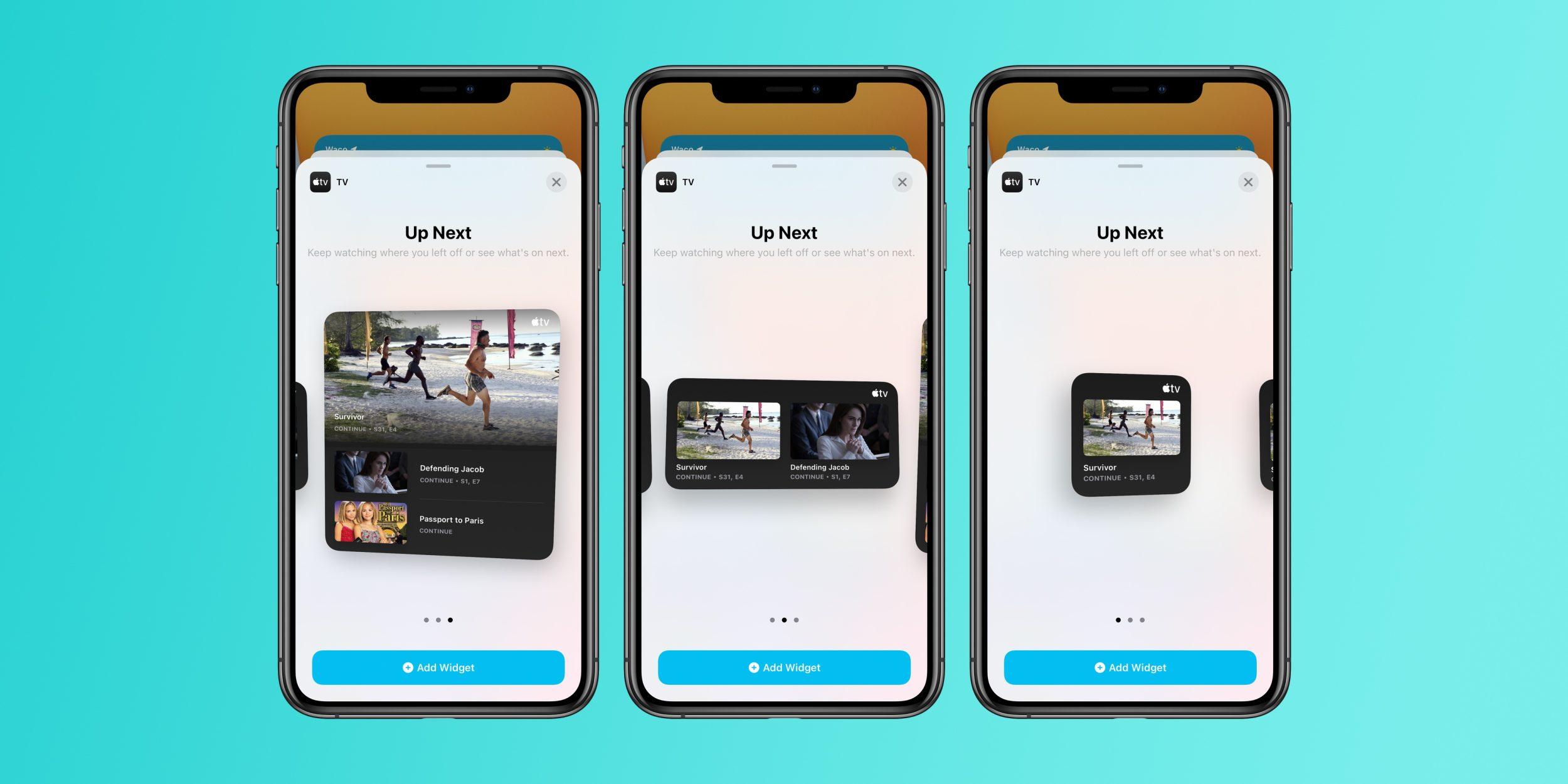 iOS 14 beta 4 – widżet TV