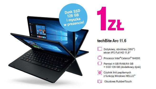 laptop techBite Arc 11.6 w T-Mobile za 1 zł na start