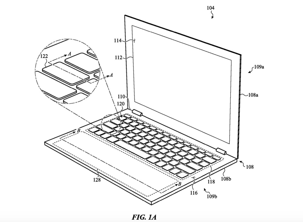 MacBook Pro z ogromnym i podświetlanym gładzikiem. Oto nowy patent Apple 19 MacBook