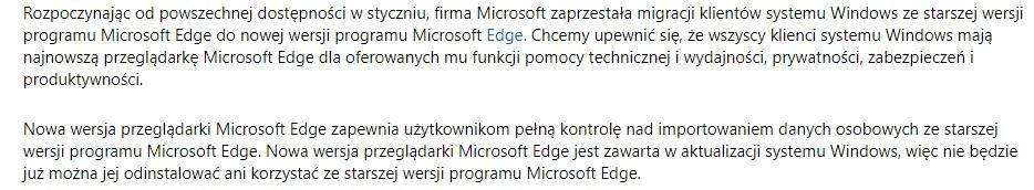 Internet Explorer przestanie być wspierany za rok, a Microsoft Edge... nie odinstalujesz z Windows 10 19 Internet Explorer