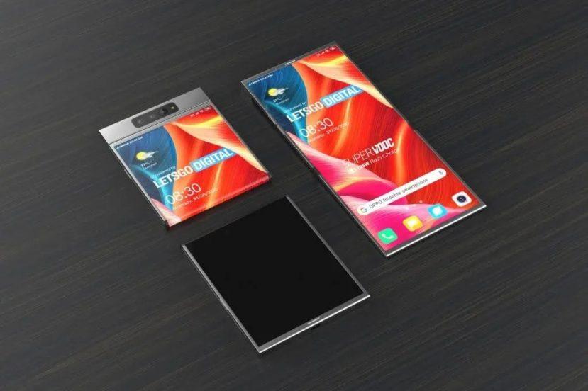 """Składany smartfon Oppo z klapką i wyświetlaczem """"na lewą stronę"""" - ciekawy plan"""