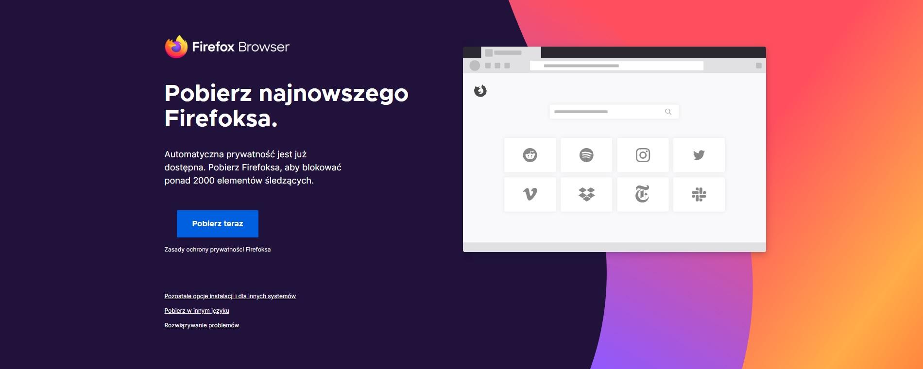 przeglądarka internetowa Mozilla Firefox Browser