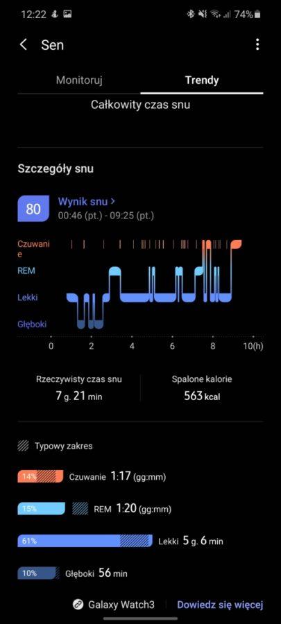 Chciałabym, żeby działał dłużej - taki jest fajny. Recenzja Samsung Galaxy Watch 3 57 samsung galaxy watch 3