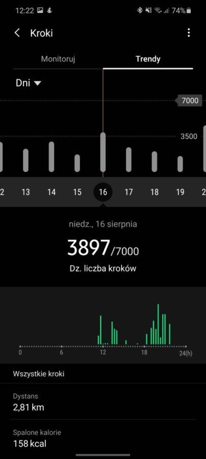 Chciałabym, żeby działał dłużej - taki jest fajny. Recenzja Samsung Galaxy Watch 3 59 samsung galaxy watch 3