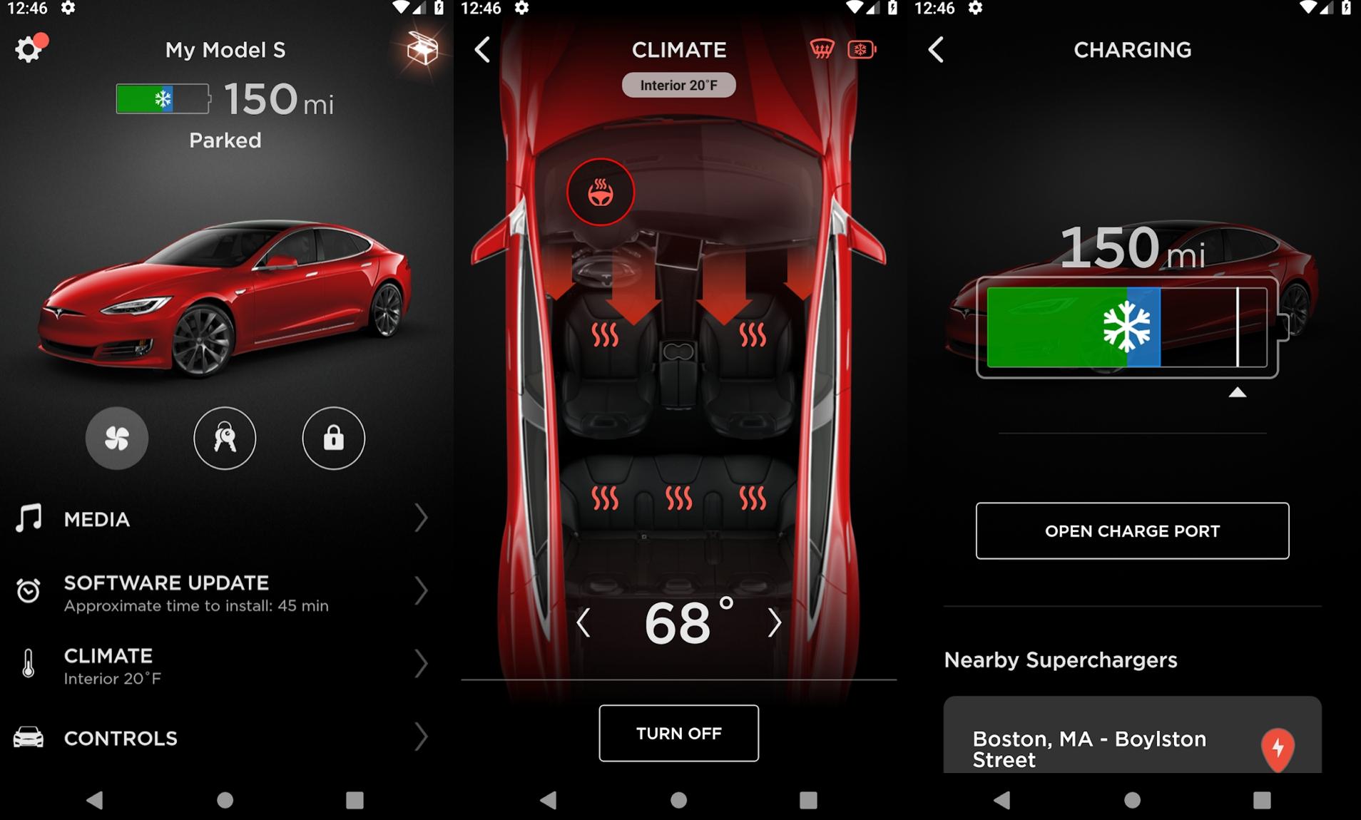 Tesla – aplikacja na Androida.