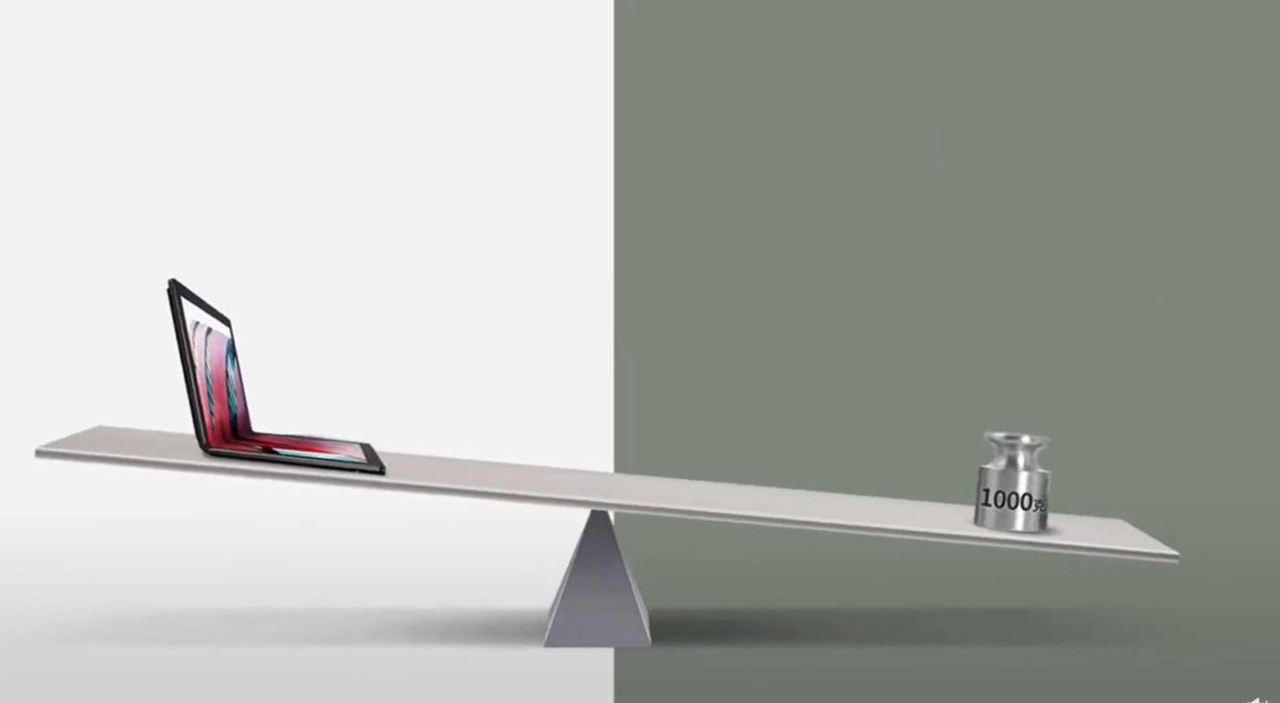 Lenovo podkreśla, że ThinkPad X1 Fold z elastycznym ekranem będzie ważyć mniej niż 1 kg 18 Lenovo