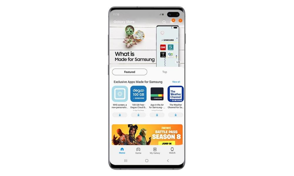 Android 12 wprowadzi ułatwienia dla Galaxy Store i innych sklepów z aplikacjami.