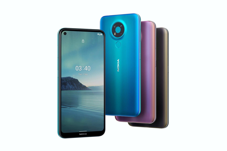 Nokia 5.4 na pierwszy rzut oka może przypominać smartfon Nokia 3.4 smartphone