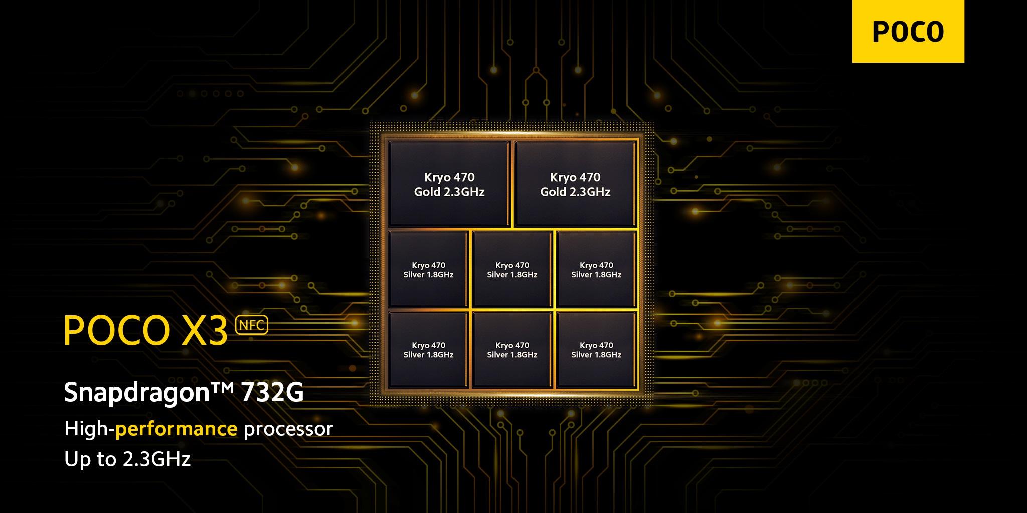 POCO X3 NFC Qualcomm Snapdragon 732G