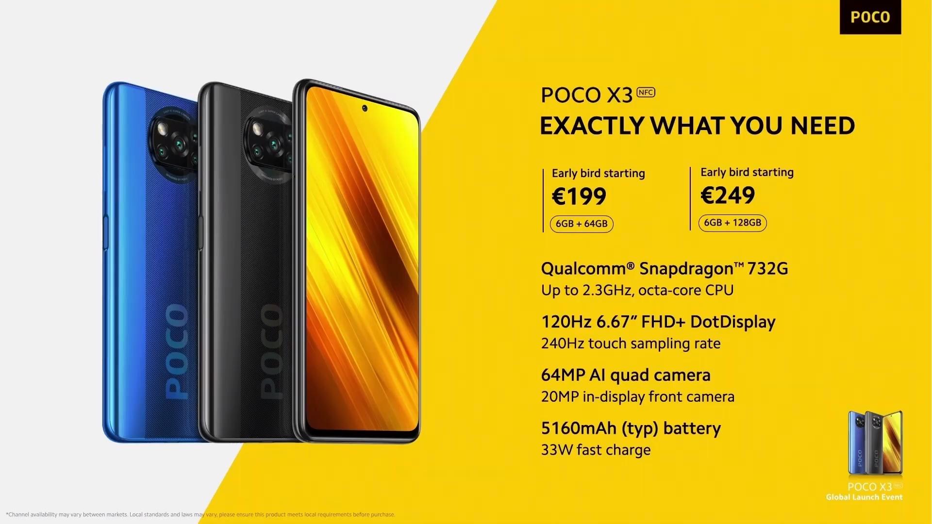 smartfon POCO X3 NFC smartphone price