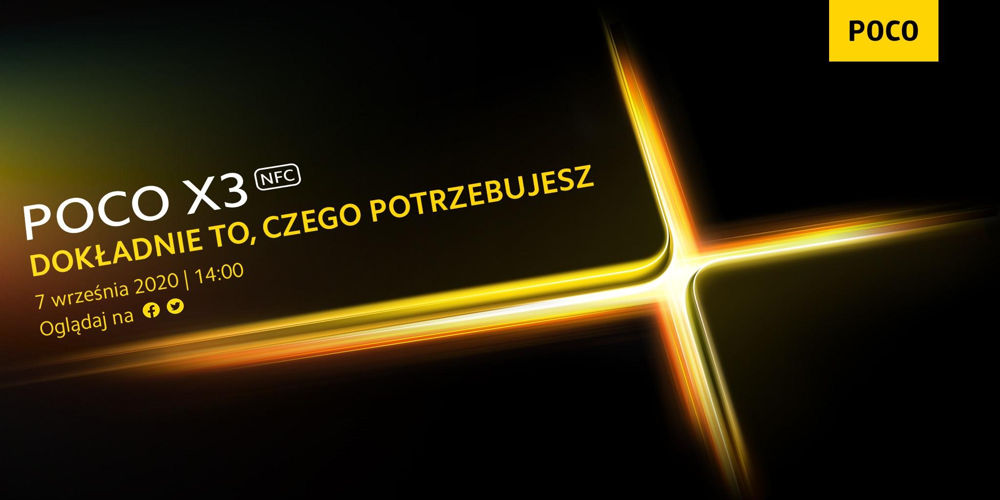 smartfon POCO X3 NFC smartphone teaser
