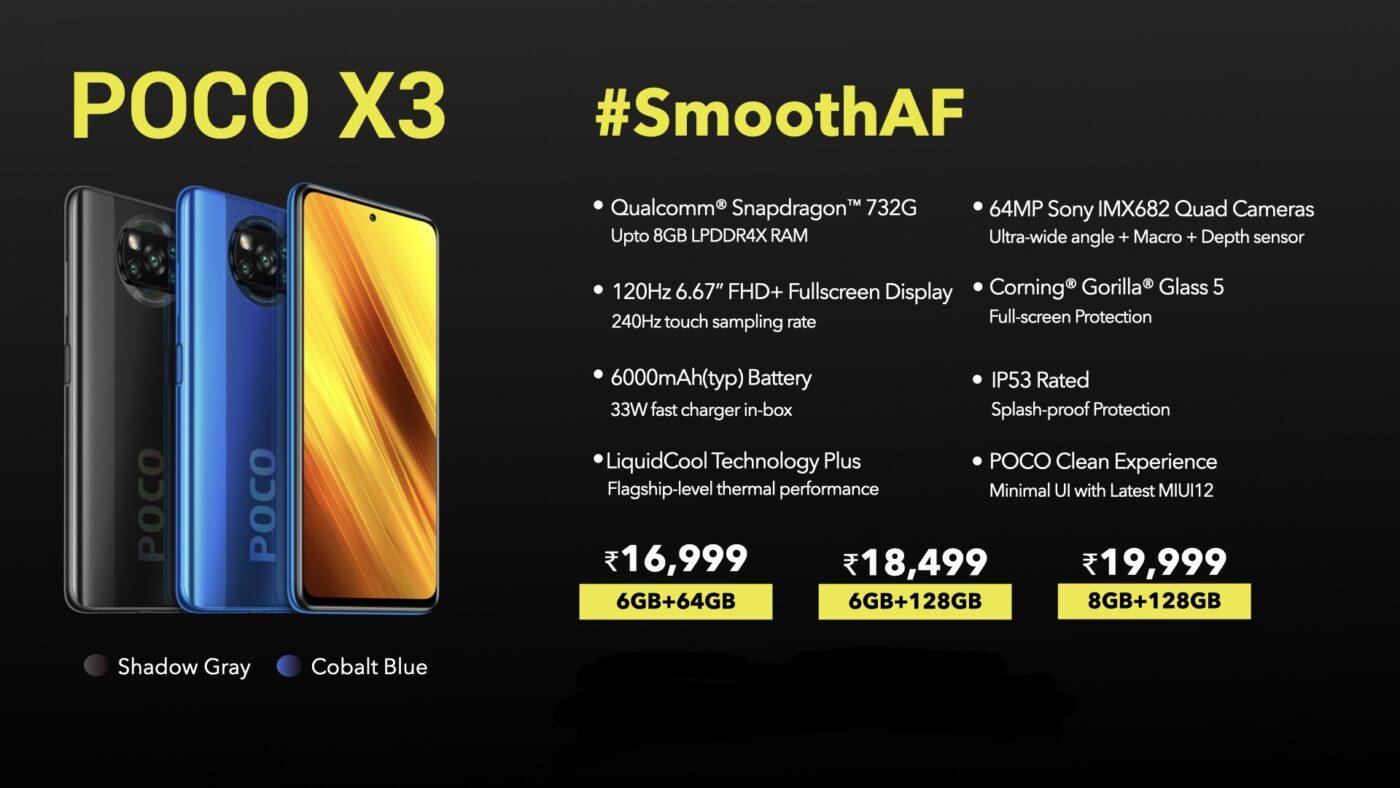 smartfon POCO X3 smartphone
