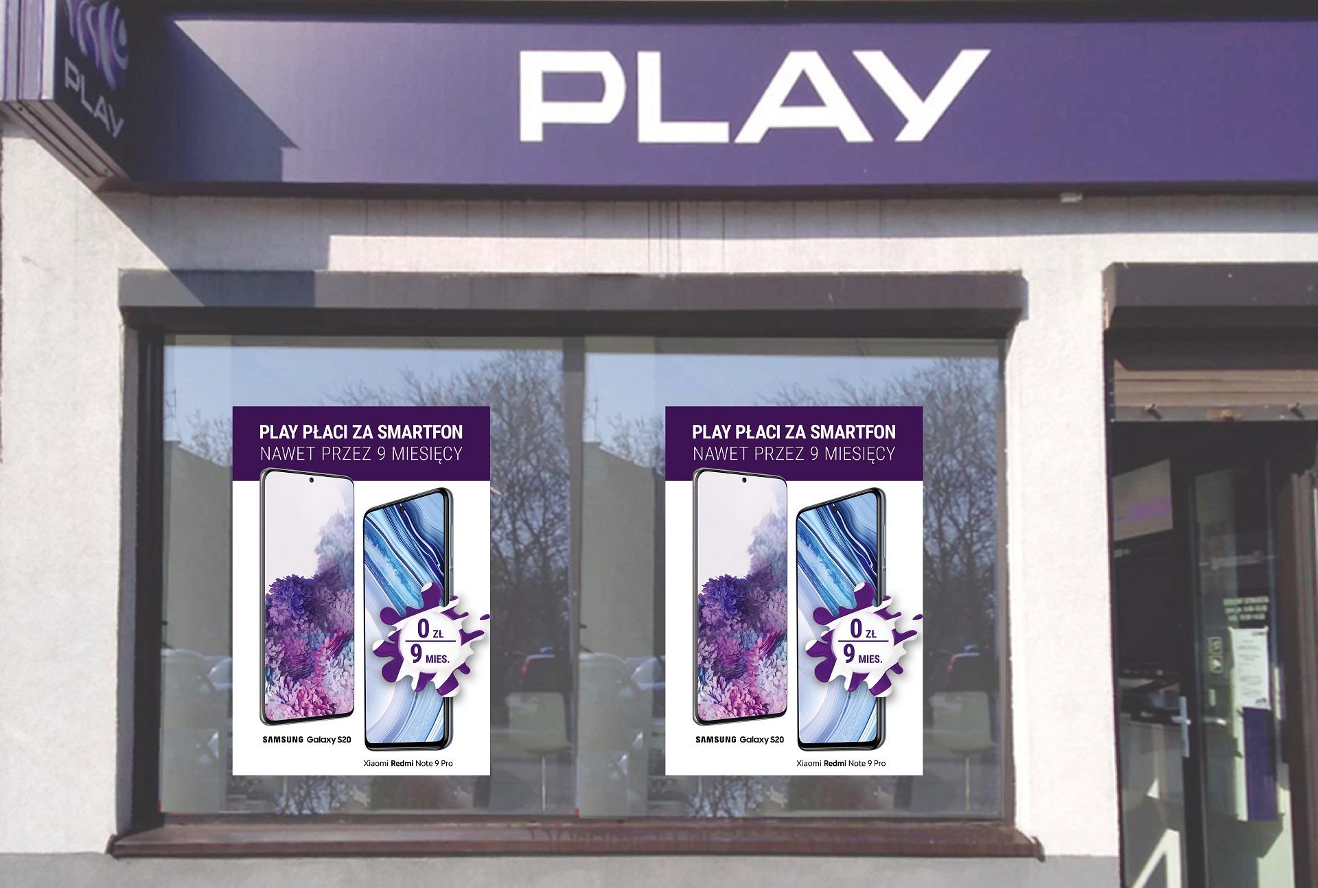 promocja Play do 9 rat za smartfon gratis