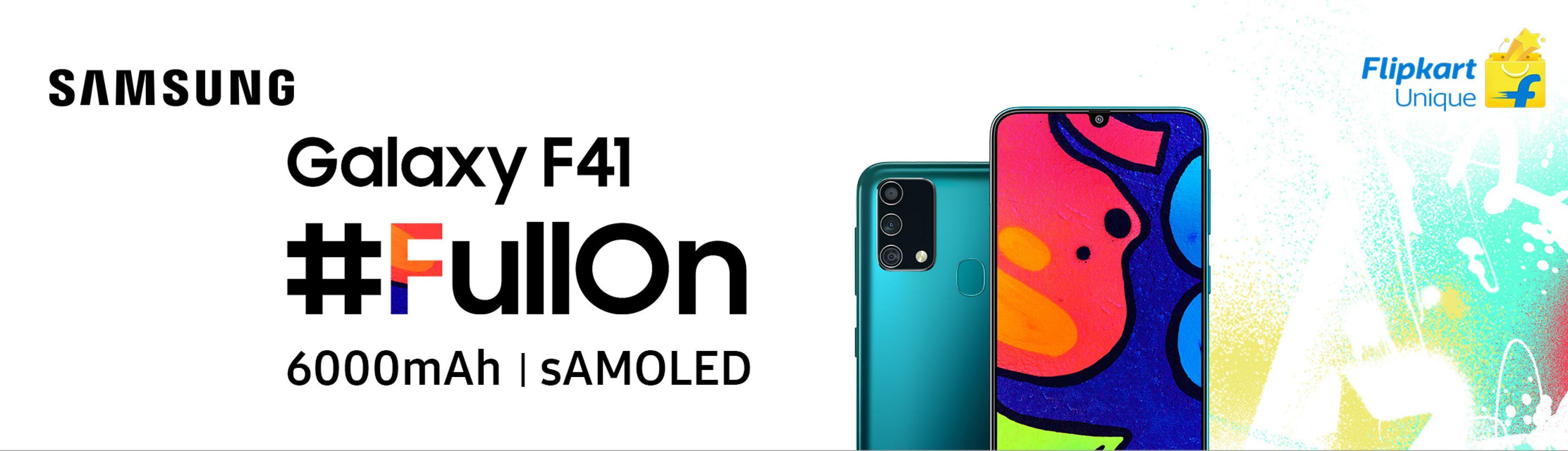 smartfon Samsung Galaxy F41 smartphone teaser