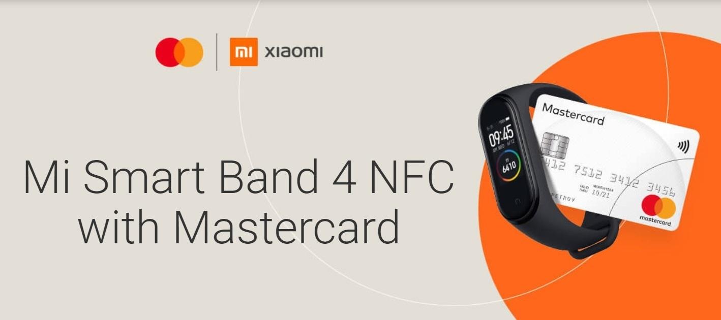 Xiaomi Mi Band 4 NFC Mastercard