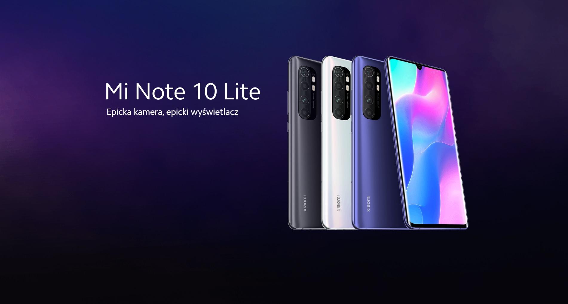 smartfon Xiaomi Mi Note 10 Lite smartphone