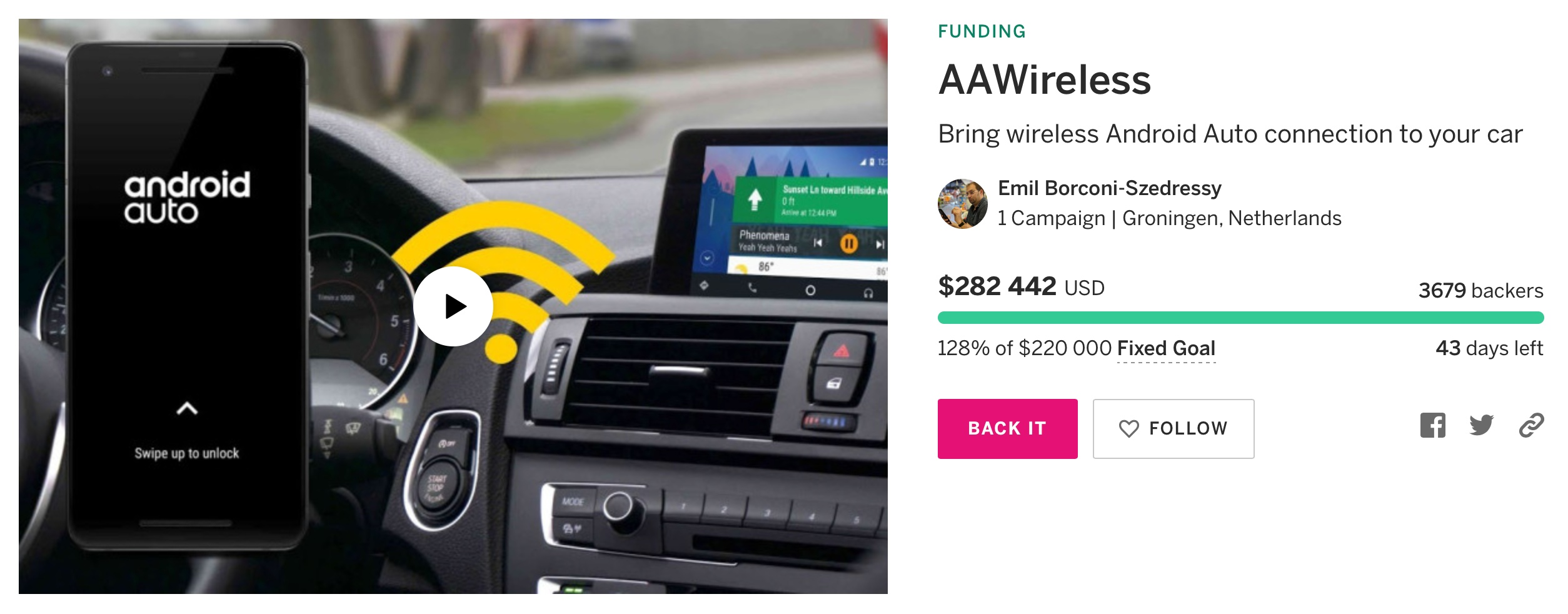 Android Auto – adapter.