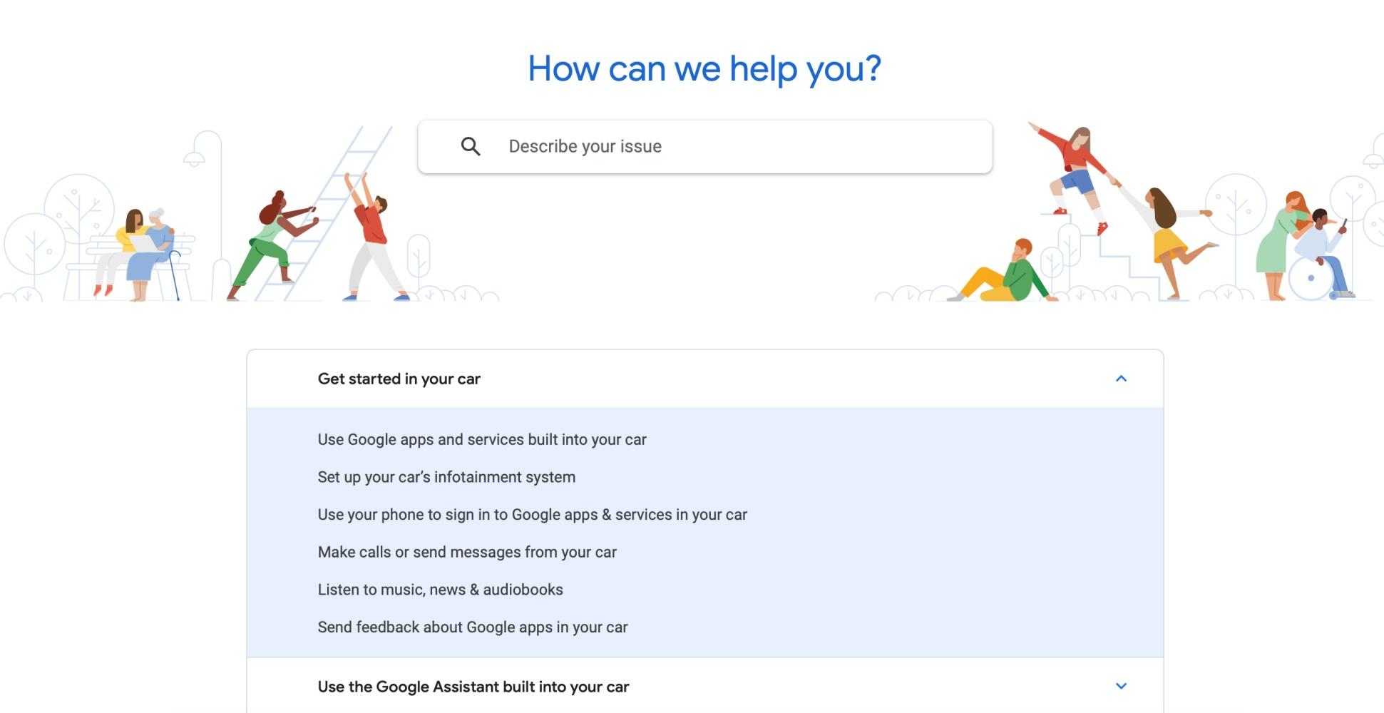 Android Automotive pomoc techniczna