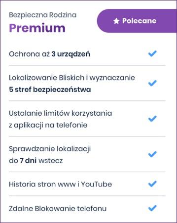 Play aplikacja Bezpieczna Rodzina Premium
