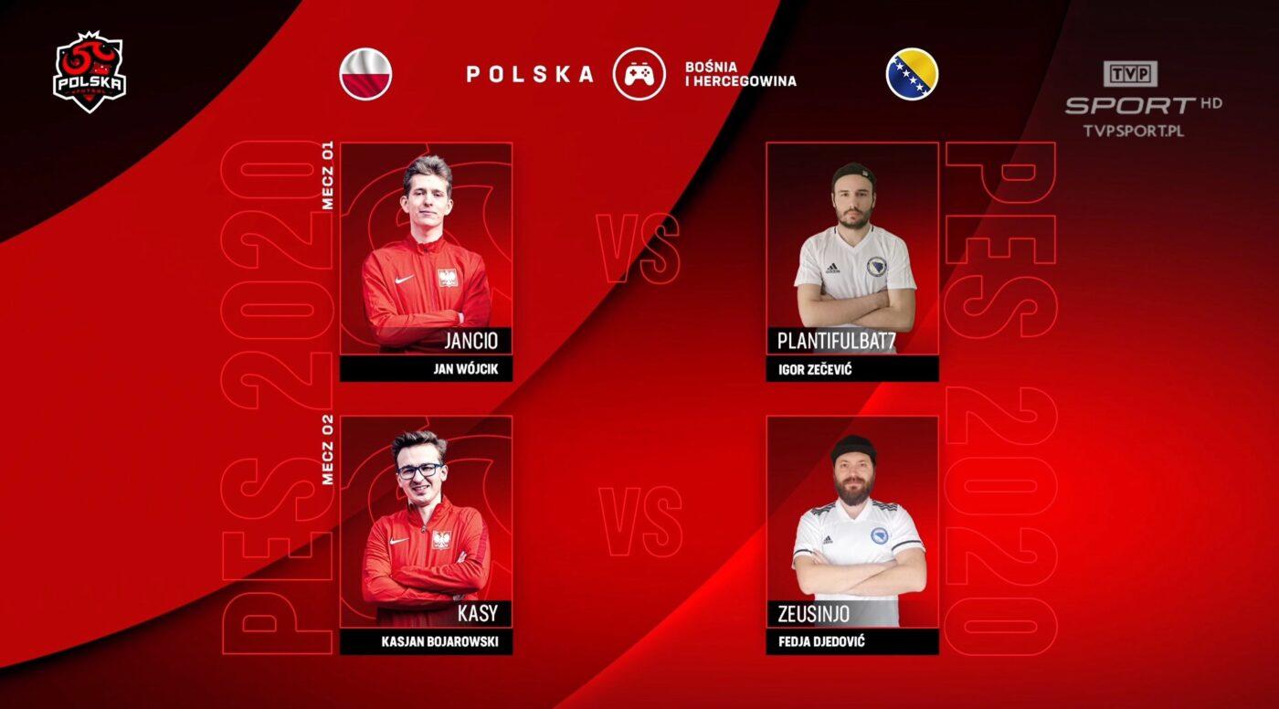Trwa e-sportowy mecz piłki nożnej Polska vs. Bośnia i Hercegowina. Na żywo w TVP Sport i internecie