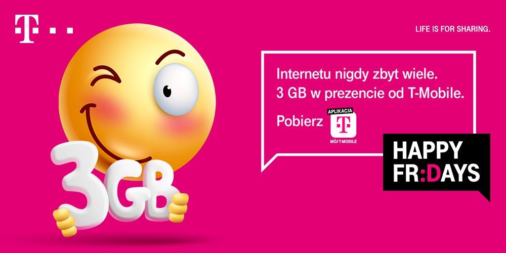 Aktywuj sobie za darmo paczkę 3 GB internetu od T-Mobile 20 T-Mobile
