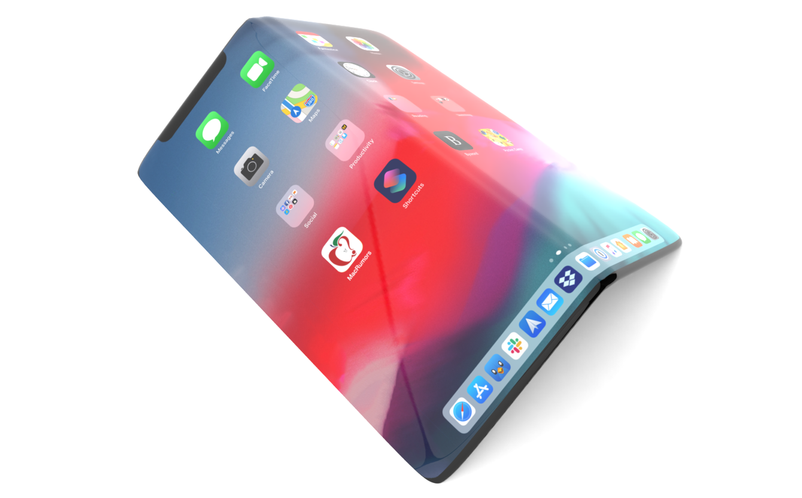 Składany iPhone – koncept.