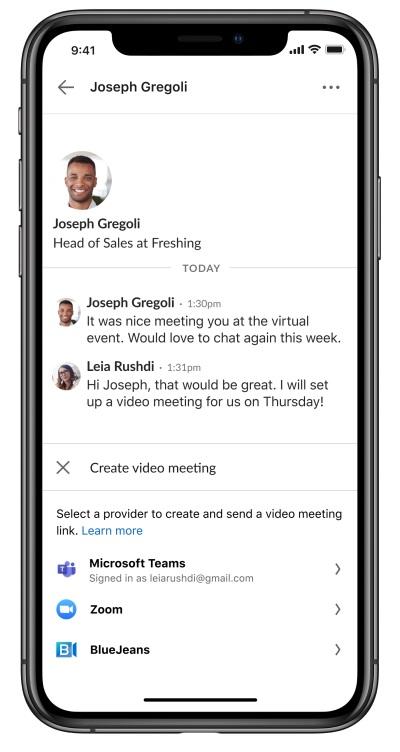 Od teraz będziemy mogli wykonać bezpośrednie połączenie do naszego rozmówcy poprzez zewnętrzne aplikacje